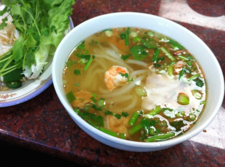 "#37 banh canh tom (""udon"" with shrimp)"
