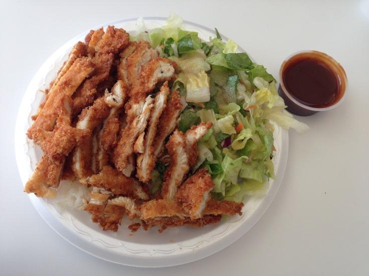 panko chicken plate