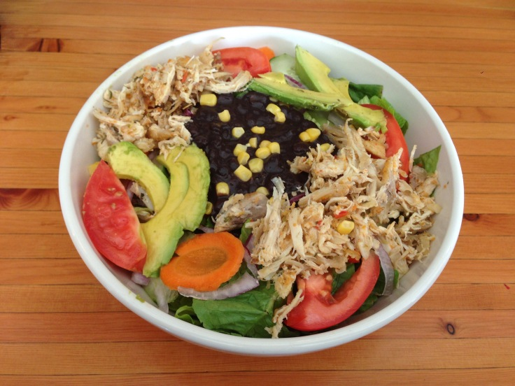 black bean salad with chicken