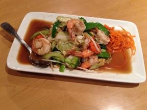 pad pak with shrimp