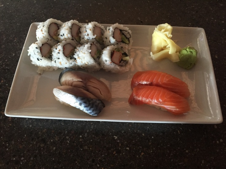 lunch sushi assortment