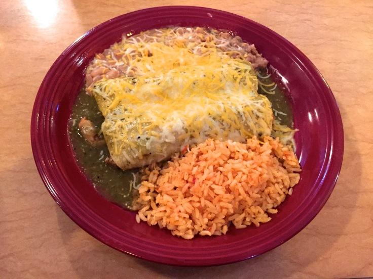 #7 special — chicken enchiladads
