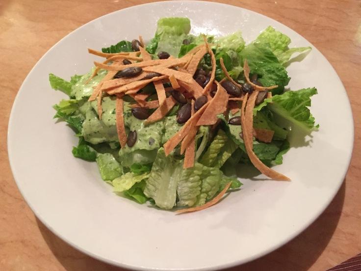 salad with pepita dressing