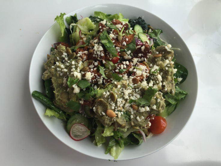 chicken mole salad