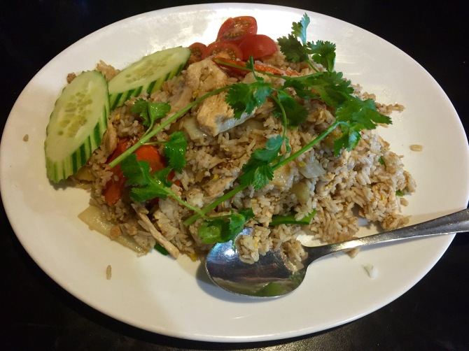 tropical fried rice with chicken