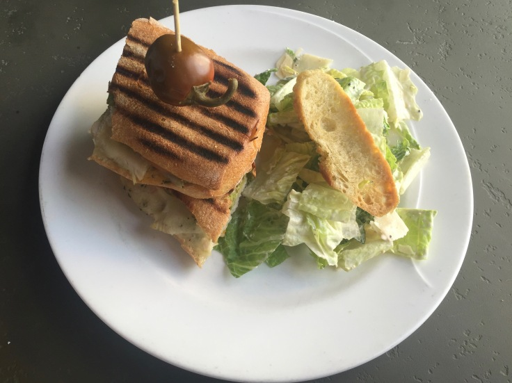 Jalisco panino with Caesar salad