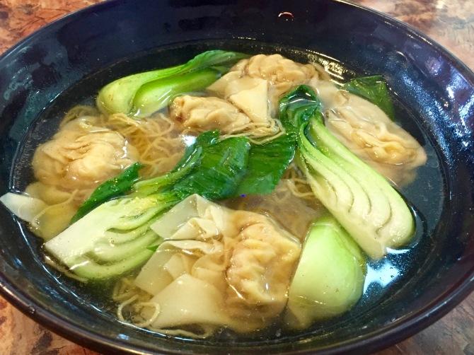 Hong Kong style wonton noodle soup