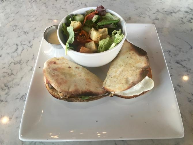 meatball sandwich & side salad