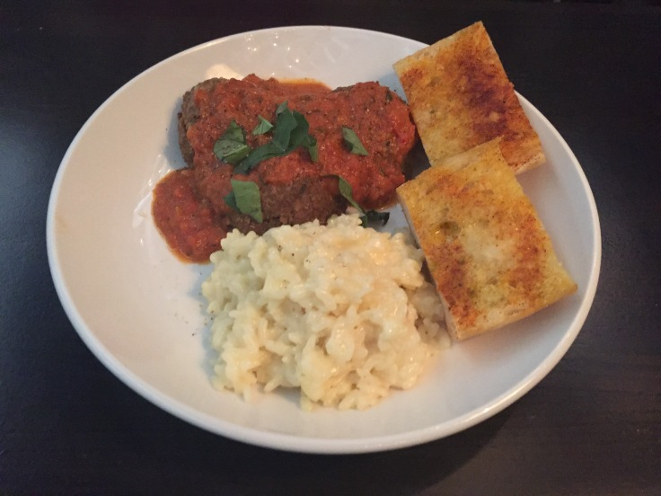 turkey meatballs with risotto