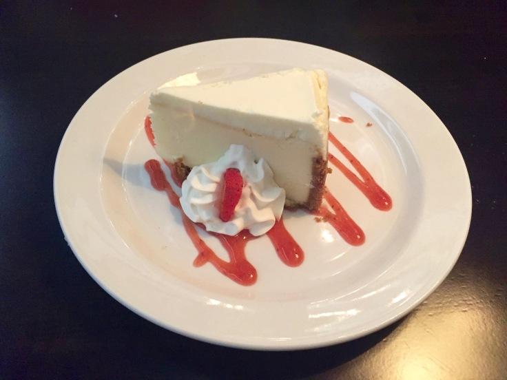 cheesecake with strawberry glaze