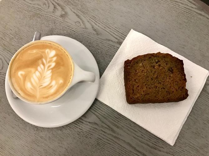 cappuccino and date zucchini bread