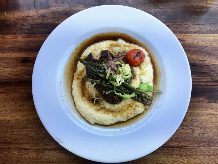 pot roast over polenta