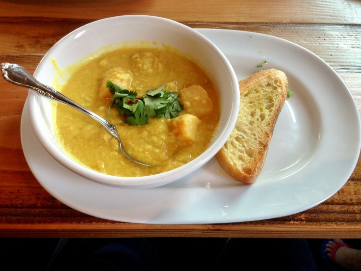 curried coconut lentil soup