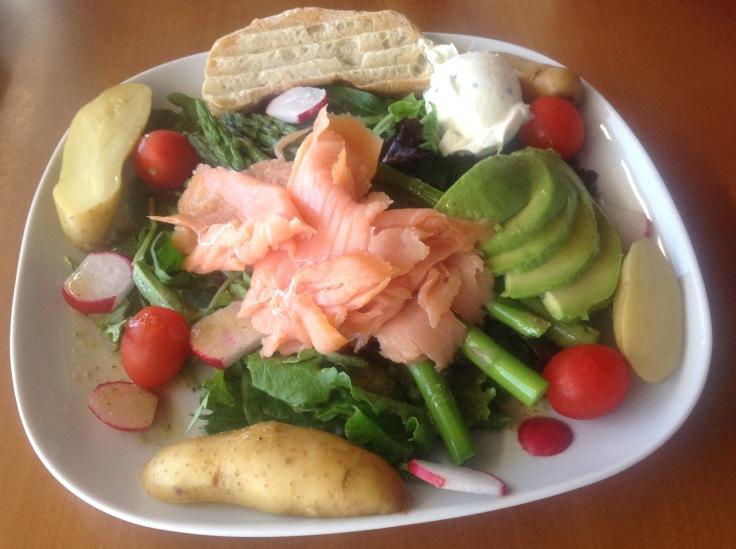 salmon asparagus salad