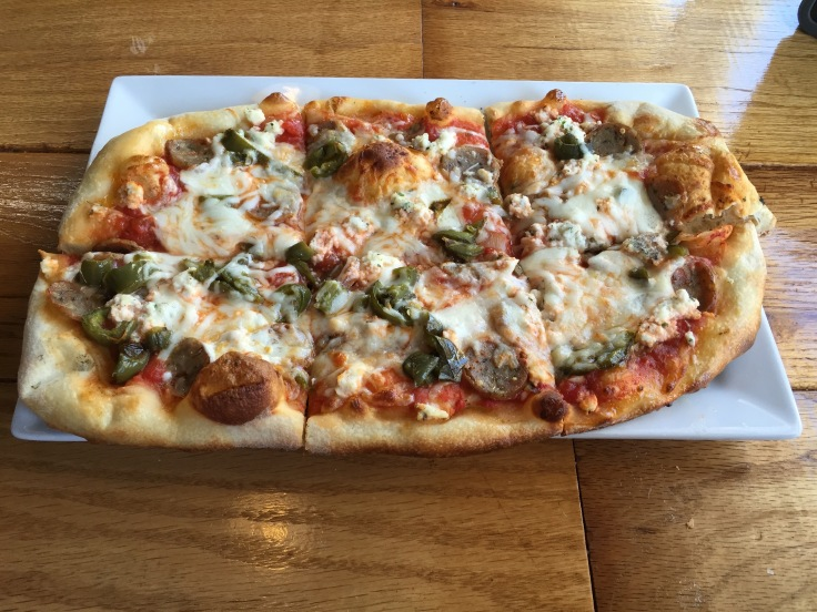 Scott's sausage and mushroom flatbread