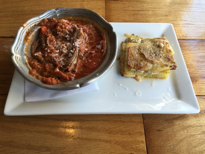braised ancho chile beef with au gratin potatoes