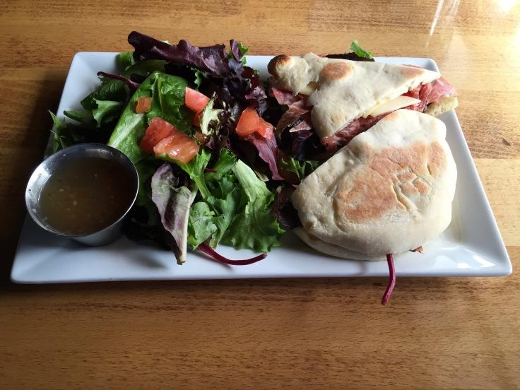 Italian sandwich & salad