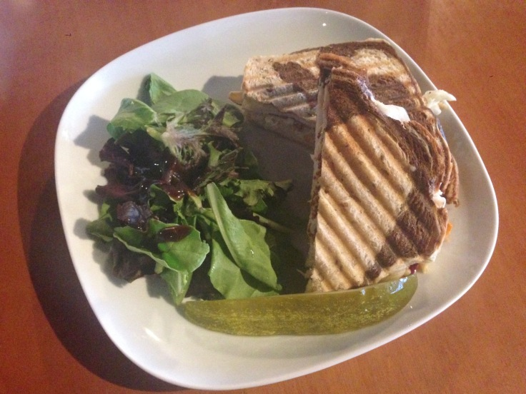 turkey reuben with side salad