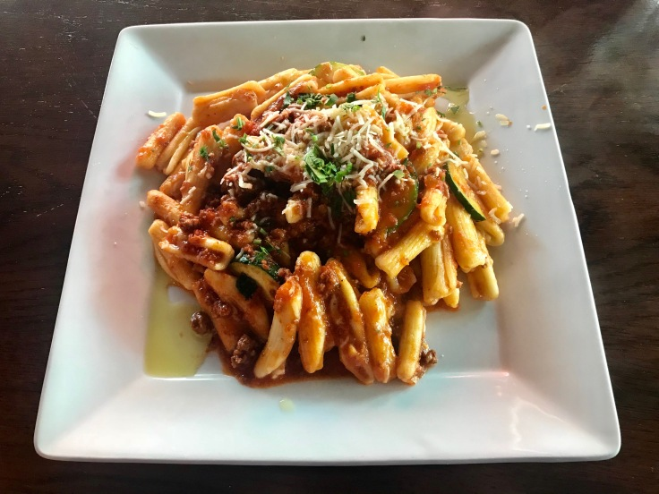 cavatelli with bolognese sauce