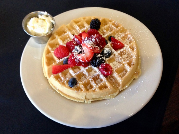 waffle with mixed berries