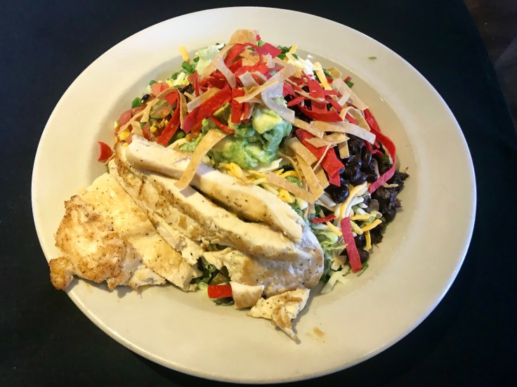 Southwest salad with grilled chicken