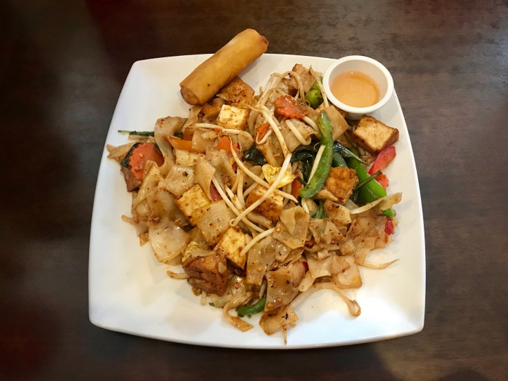 drunken noodles lunch special with tofu