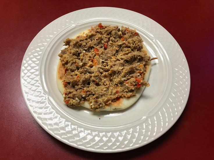 arepa con carne