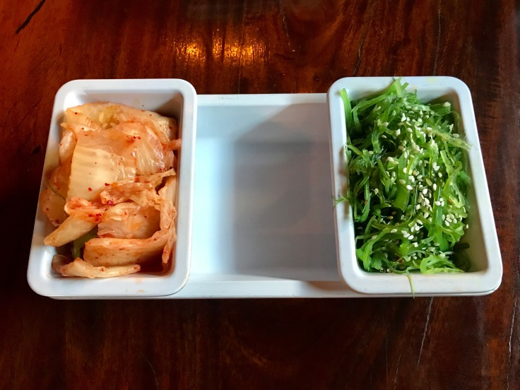 kimchi and seaweed salad