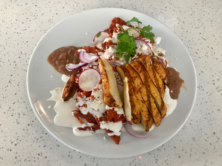 chilaquiles with chicken