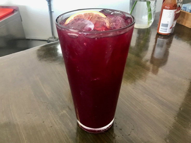 blueberry honey lemonade