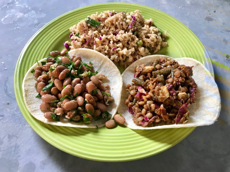 street tacos with rice pilaf