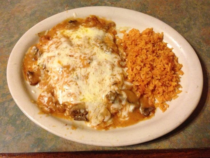 creamy chicken mushroom enchiladas