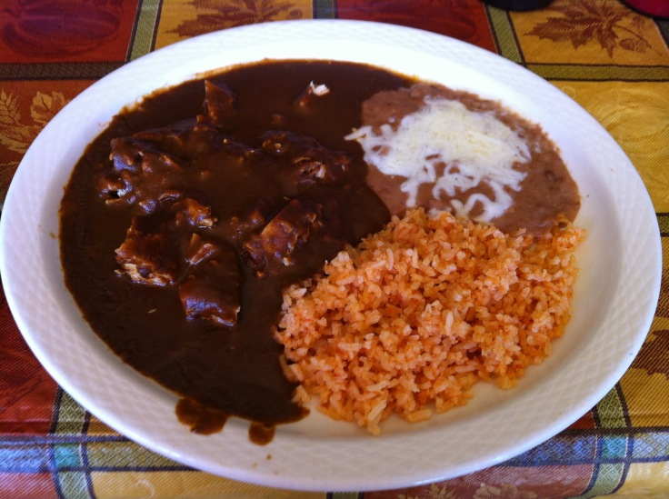 chicken mole Sunday special