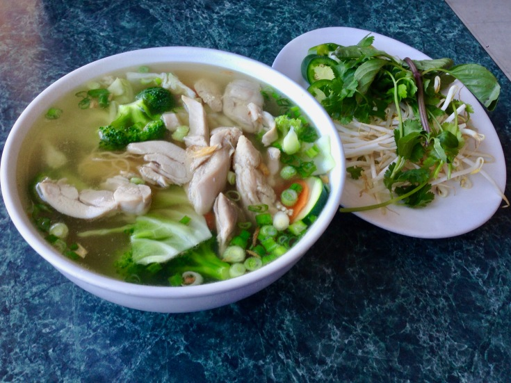 pho ga (chicken) with vegetables